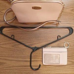 Michael Kors Bags - Michael Kors Pink Crossbody with matching Wallet